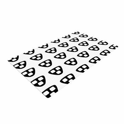 Trebam Kubus Black/White Area Rug Rug Size: 4 x 6