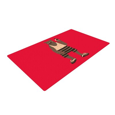 Tobe Fonseca Vacation Red/Brown Area Rug Rug Size: 2 x 3