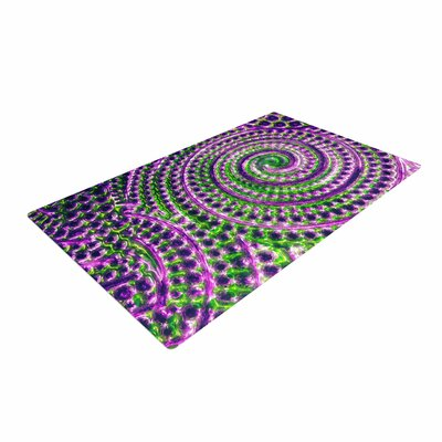 Sylvia Cook Inspiration Green/Purple Area Rug Rug Size: 2 x 3