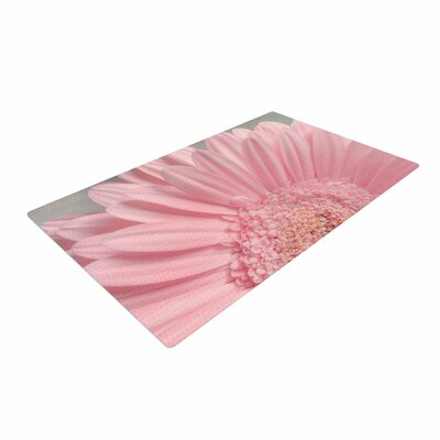 Suzanne Harford Summer Daisy Floral Pink Area Rug