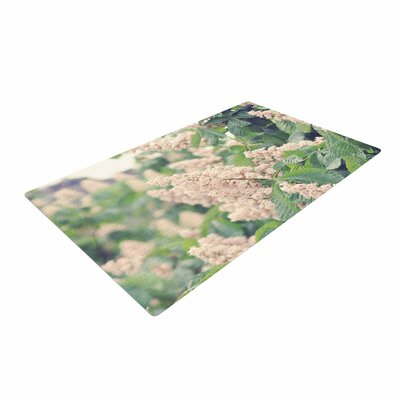 Sylvia Coomes Breath of Fresh Air Floral Pink Area Rug