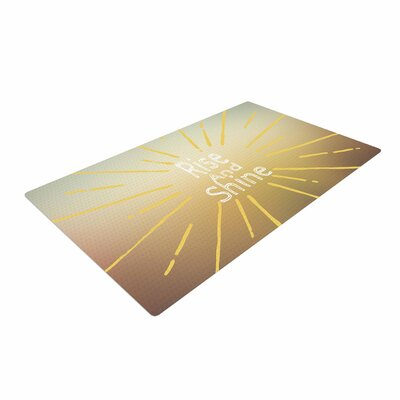 Suzanne Carter Rise and Shine White/Yellow Area Rug