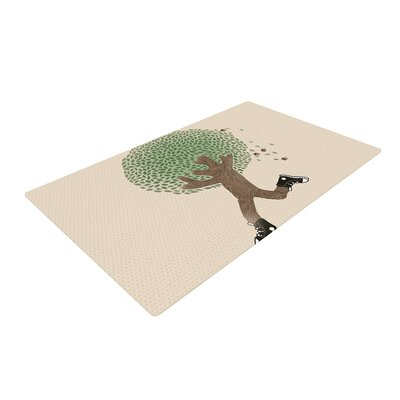 Tobe Fonseca Run For Your Life Tree Illustration Cream Area Rug Rug Size: 2 x 3