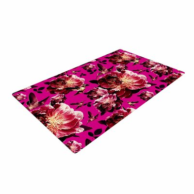 Shirlei Patricia Muniz Floral Photography Magenta Area Rug