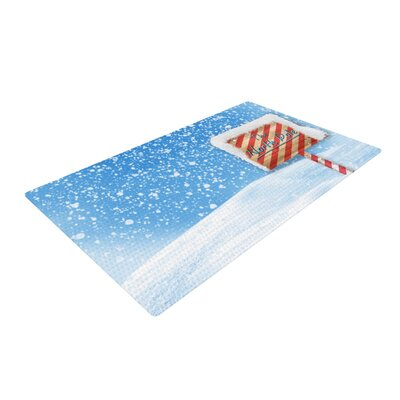 Snap Studio North Pole Snow Blue/White Area Rug Rug Size: 2 x 3