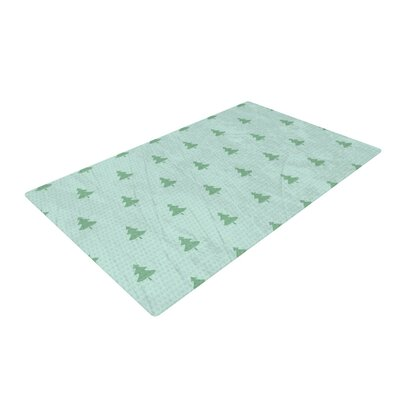 Snap Studio Pine Pattern Green Teal/Green Area Rug Rug Size: Rectangle 4 x 6