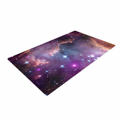 Suzanne Carter Cosmic Cloud Celestial Purple Area Rug