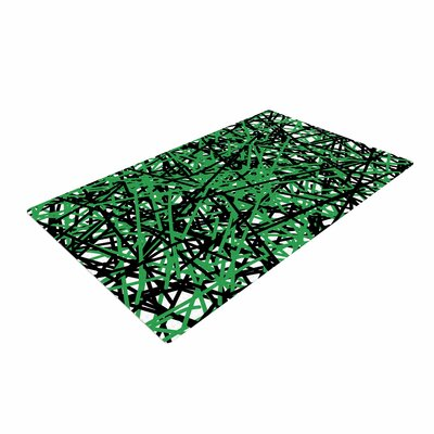Trebam Trava V.4 Digital Green/Black Area Rug Rug Size: Rectangle 4 x 6