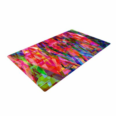 Suzanne Carter Geo Prism Red/Blue Area Rug
