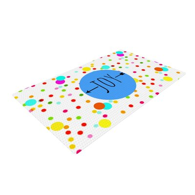Sreetama Ray Oh Joy Rainbow/White Area Rug