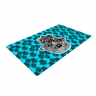 Shirlei Patricia Muniz The Eye llustration Black Area Rug Rug Size: 2 x 3