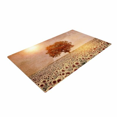 Viviana Gonzalez Lone Tree and Sunflowers Field Sunny Nature Area Rug
