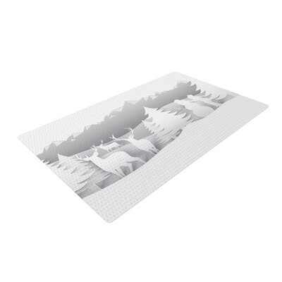 Snap Studio White as Snow Simple White Area Rug Rug Size: 2 x 3