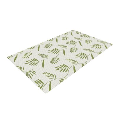 Snap Studio Ferngully Green/White Area Rug Rug Size: 4 x 6