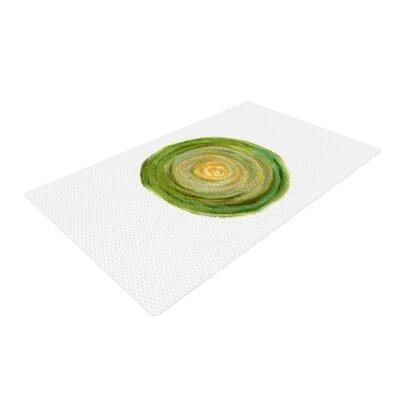 Theresa Giolzetti Leeks Green/White Area Rug