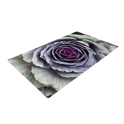 Susan Sanders Flower Love Purple/Green Area Rug Rug Size: 2 x 3
