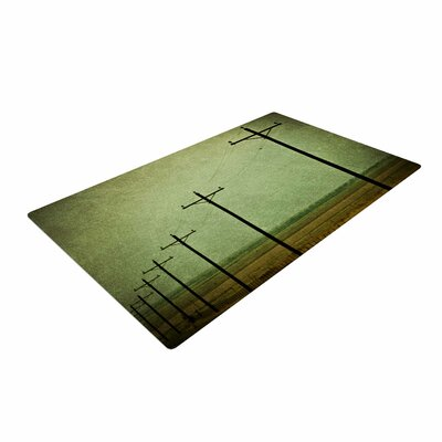 Sylvia Coomes Electric Digital Green Area Rug