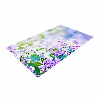 Sylvia Coomes Hazy Flowers Lavender/Nature Area Rug