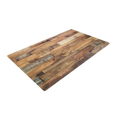 Susan Sanders Campfire Wood Rustic Brown Area Rug Rug Size: 4 x 6