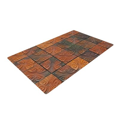 Susan Sanders Whimsy Tile Rustic Orange Area Rug Rug Size: 4 x 6