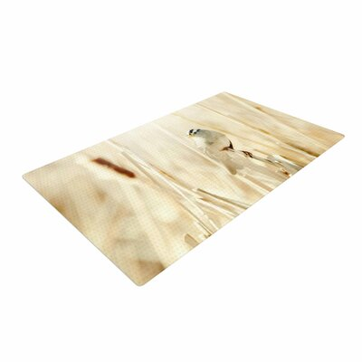 Sylvia Coomes Bird in Ethereal Light Tan/Gold Area Rug