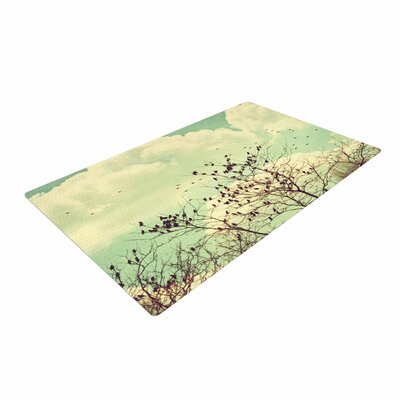 Sylvia Coomes Birds of a Feather Green/Brown Area Rug