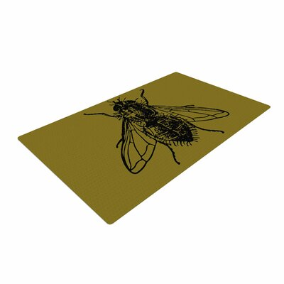 Alias Too Fly Green/Black Area Rug Rug Size: 4 x 6