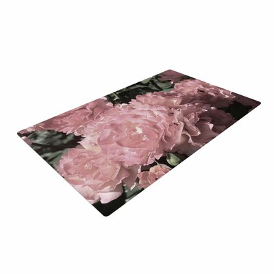 Susan Sanders Blush Flowers Floral Photography Pink Area Rug