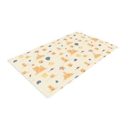 Stephanie Vaeth Sandcastles Tan/Yellow Area Rug Rug Size: 2 x 3