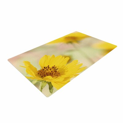 Sylvia Coomes Abstract Flowers Photography Yellow/Green Area Rug