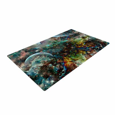 Shirlei Patricia Muniz Space Abstract Blue Area Rug