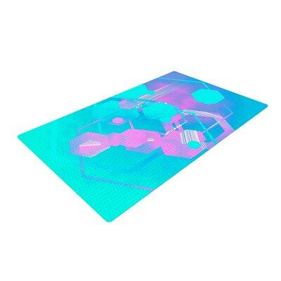 Infinite Spray Art Emersion Teal/Pink Area Rug