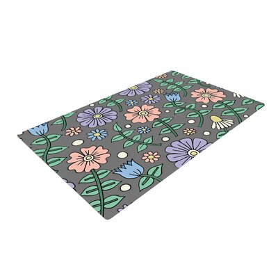 Sarah Oelerich	 Early Spring Floral Pastel Area Rug