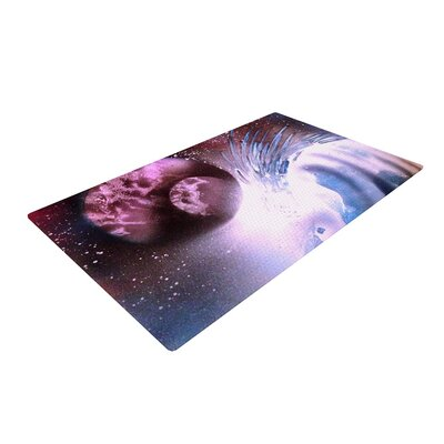 Infinite Spray Art Space Tube Pink/Purple Area Rug