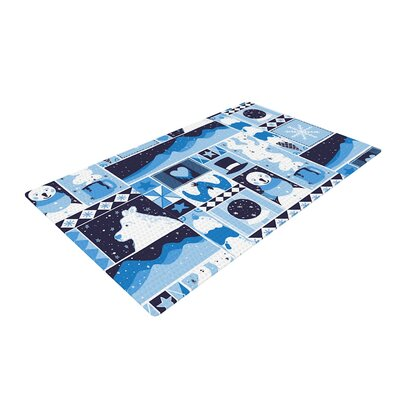 Tobe Fonseca Winter Seasonal Blue Area Rug