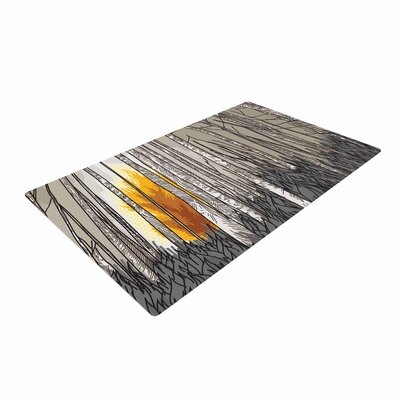 Sam Posnick Smokey Forest Fire Brown/Orange Area Rug Rug Size: 2 x 3