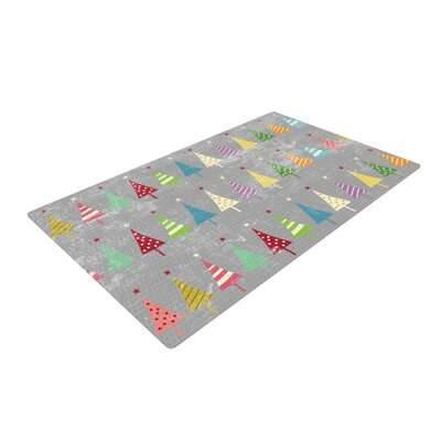 Snap Studio Crazy Trees Frost Rainbow Area Rug Rug Size: 4 x 6