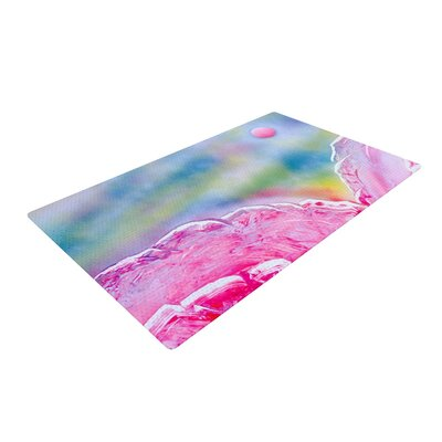 Infinite Spray Art Hideaway Pink/Blue Area Rug Rug Size: 4 x 6