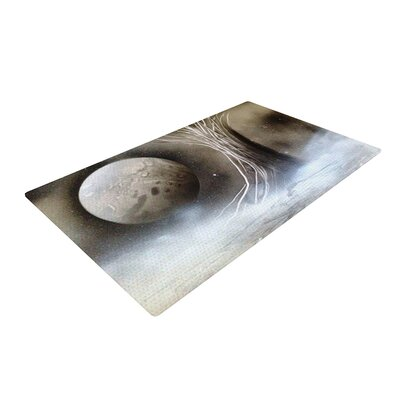 Infinite Spray Art Tree Space Black/White/Gray Area Rug