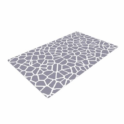Trebam Staklo II Digital Gray/White Area Rug Rug Size: Rectangle 4 x 6
