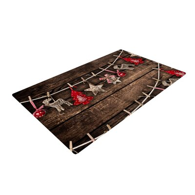 Snap Studio Hanging Around Brown/Red Area Rug Rug Size: 2 x 3