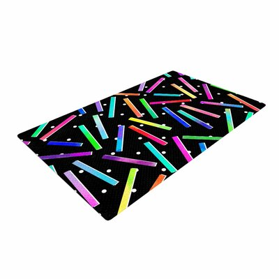 Noonday Design Confetti Party Black Area Rug