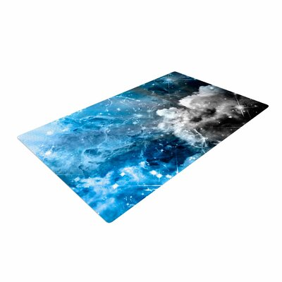 Shirlei Patricia Muniz We are Waiting for Abstract Blue Area Rug Rug Size: 4 x 6