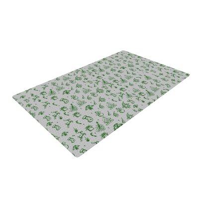 Snap Studio Miniature Christmas Gray/Green Area Rug Rug Size: 4 x 6