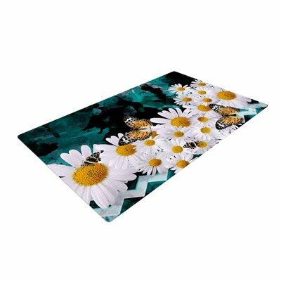 Shirlei Patricia Muniz Secret Garden Floral Yellow Area Rug