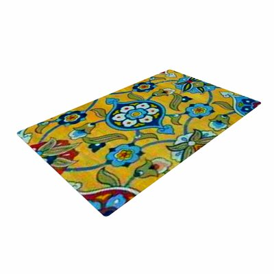 S Seema Z Persian Mood Yellow/Blue Area Rug Rug Size: 4 x 6