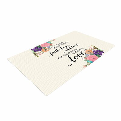 Noonday Design Faith, Hope, and Love Beige/Multicolor Area Rug