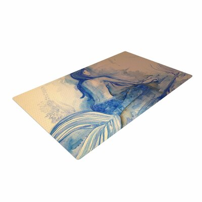 Theresa Giolzetti Mer-Maid Huh Gray/Coral Area Rug Rug Size: 4 x 6