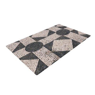 Susan Sanders Mosaic Beige/Black Area Rug Rug Size: 2 x 3