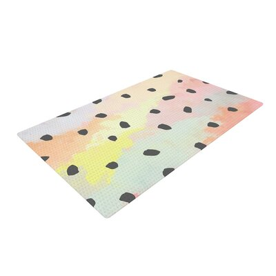 Strawberringo With Dots Painting Pastel Area Rug Rug Size: 2 x 3